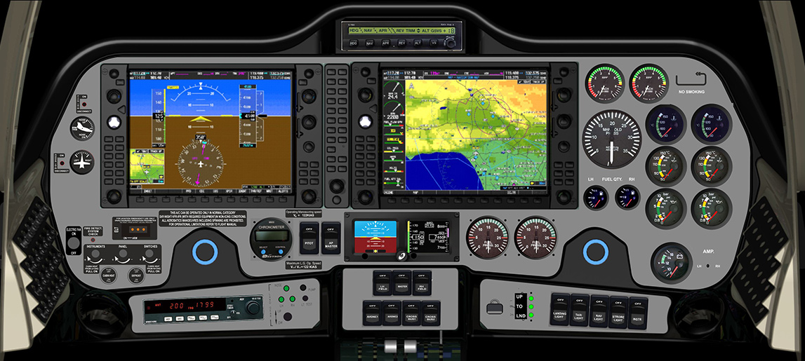 Coast Flight Tecnam P2006T Cockpit
